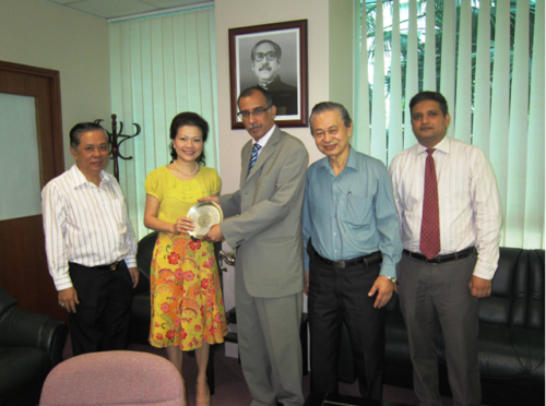Bangladesh High Commission – Received a token of appreciation from His Excellency Kamrul Ahsan